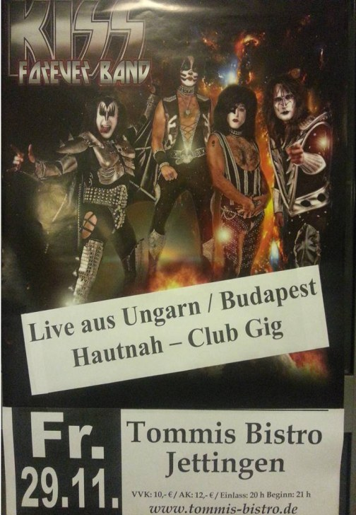 KISS Forever Tribute Band - live at Tommis Bistro
